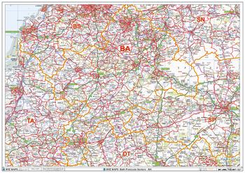 Bath - BA - Postcode Wall Map