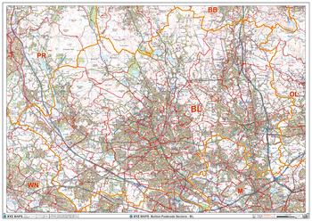 Bolton - BL - Postcode Wall Map