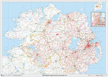 Belfast - BT - Postcode Wall Map