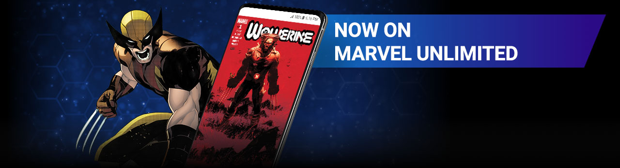 Now on Marvel Unlimited. Cover of Wolverine #1.
