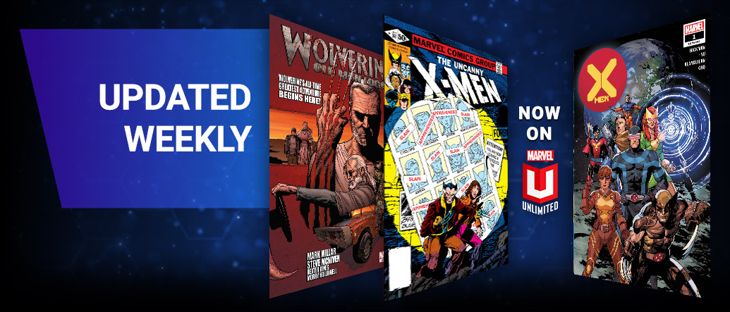 Updated Weekly. Old Man Wolverine, The Uncanny X-Men, X-Men.
