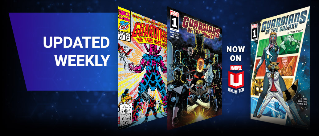 Updated Weekly. Three different Guardians of the Galaxy comic covers.