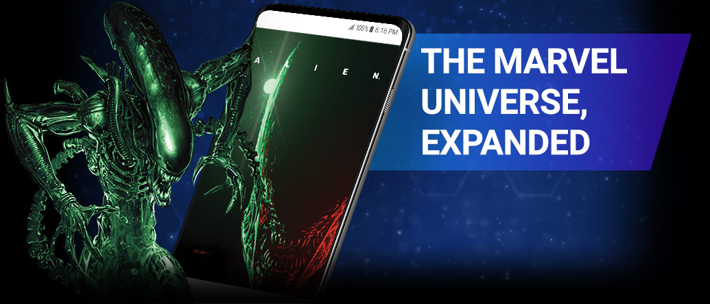 THE MARVEL UNIVERSE, EXPANDED. Gain instant access to over 28,000 comics, including new stories from the world of Alien, and hundreds of Star Wars classics. Alien with comic covers.