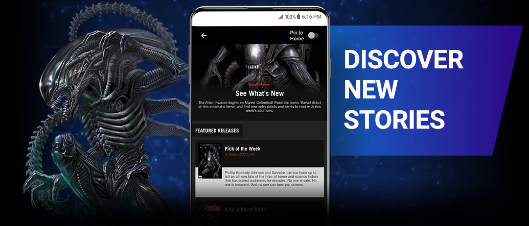 DISCOVER NEW STORIES. Use reading guides by Marvel editors to uncover fresh entry points, character histories, and recommended series! Alien with Marvel Unlimited reading list.