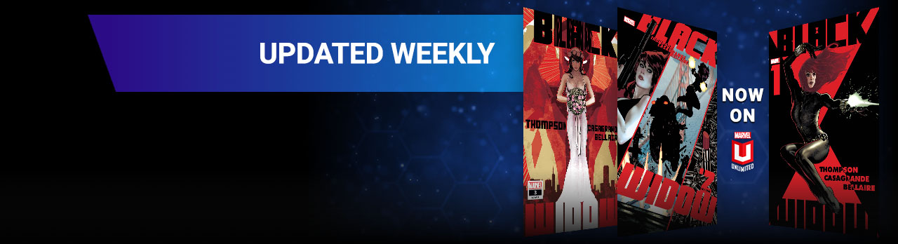 Updated Weekly. Three different Black Widow comic covers.