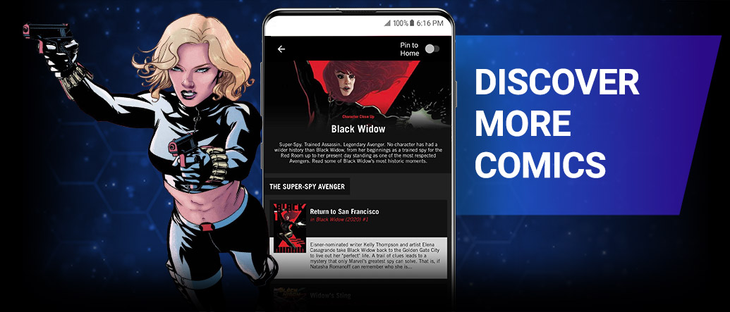 DISCOVER MORE COMICS. Use reading guides by Marvel editors to uncover fresh entry points, character histories, and recommended series! Yelena with Black Widow Reading List.