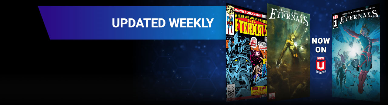 Updated Weekly. Three Eternals comic covers.