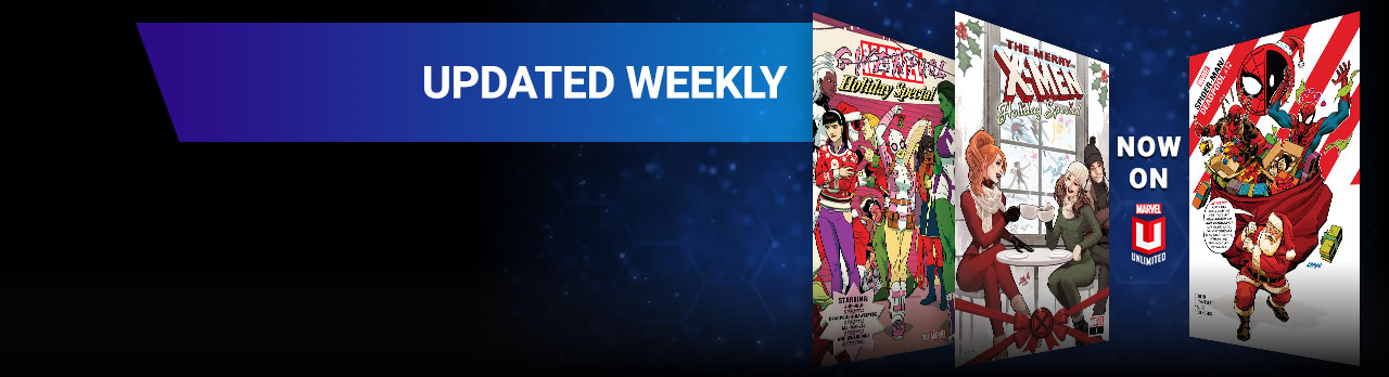 Updated Weekly. Three different holiday comic covers.