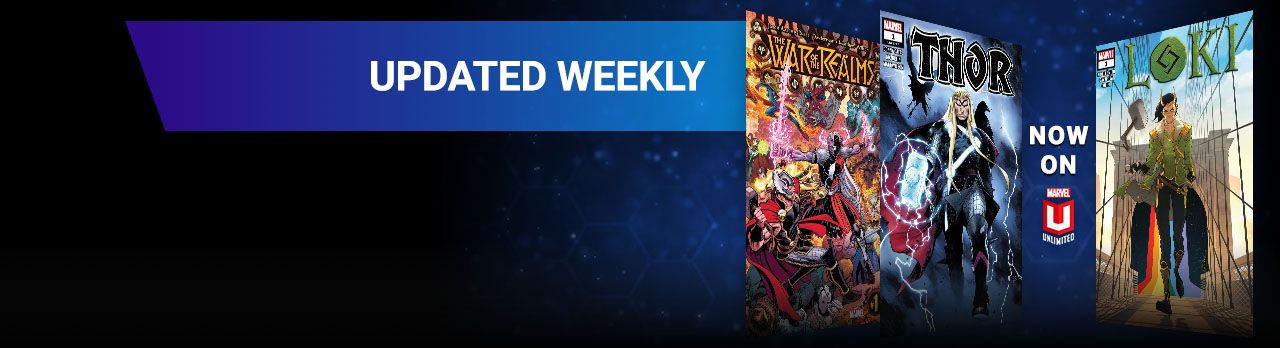 Updated Weekly. Three different Loki comic covers.