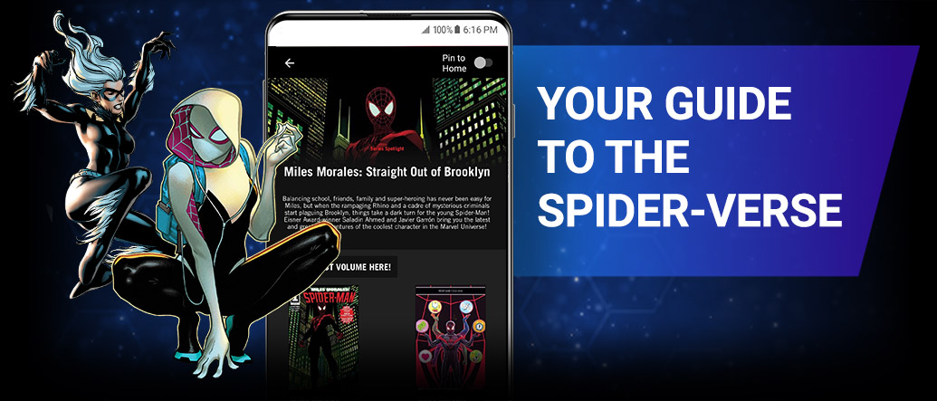 Your Guide to the Spider-Verse. Images of Black Cat and Spider-Gwen