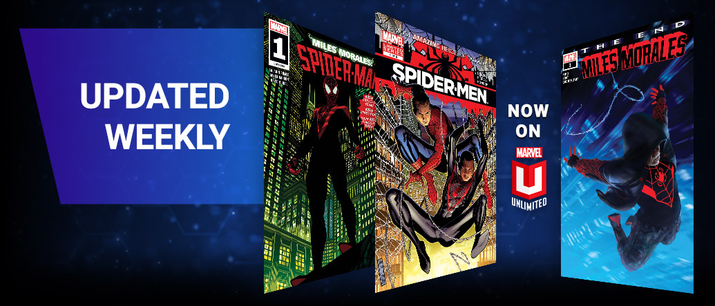 Updated Weekly. Three different Spider-Man comic covers.