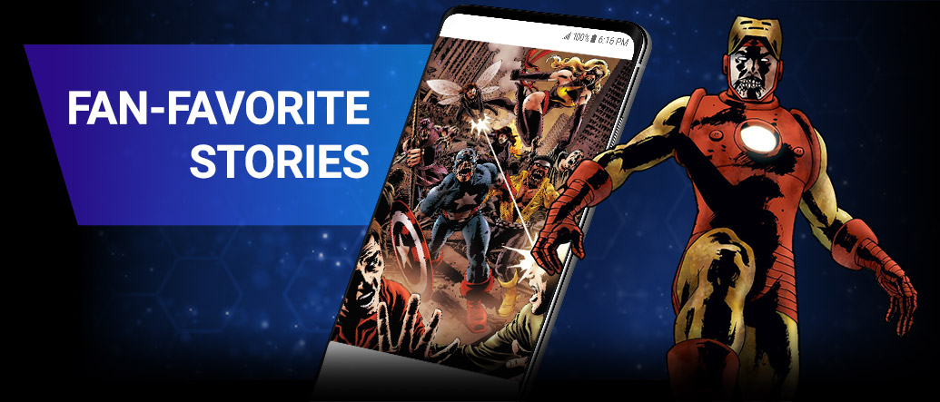FAN-FAVORITE STORIES. Discover new comics and storylines spanning the entire Marvel Multiverse! Marvel Zombie Iron Man with comic covers.