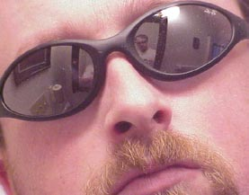 Scott | In the bathroom mirror/mirrored sunglasses | Knoxville, Tennessee