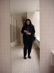 tones | empty restroom in the TransAlta Tower | Calgary
