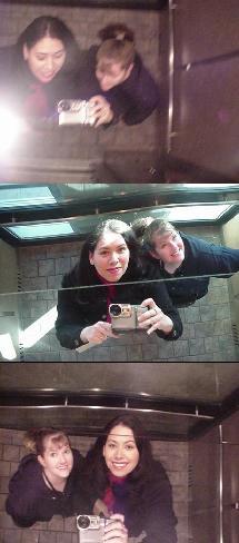 tones | mirrored elevator ceiling, Chinook Center, Calgary
