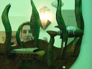 Steve | With the fishies | taken in a hip little store in the East Village (NYC)