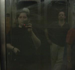 Julie Martin | Metro Doors | Montreal Metro, Green Line, between McGill and Peel (direction Angrignon)