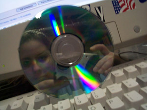 Danielle Palmer | Boredom + Digital Camera + Reflective CD = unboredom/kewl happiness | Atlanta, GA - basement/computer/lan party room