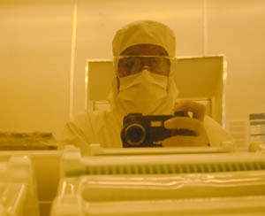 Mohamed A Elhassan | faceless engineer II | Tempe, AZ (in the cleanroom at Arizona State University)