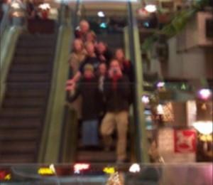 Jonathan | Escalator Christmas Shot | Seattle WA USA
