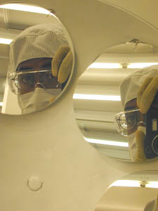 Mohamed A Elhassan | faceless engineer III | Tempe, AZ (in the cleanroom at Arizona State University)