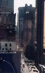 Matthew Trump | Self Potrait over Lower Broadway | Manhattan, on Broadway between Fulton and Vessey