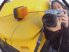 Megan | bus mirrors rock | Los Angeles, California, USA