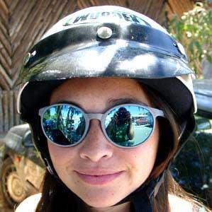 Soeren Dalsgaard | My girlfriend with a big helmet | Vulcano, Eolian Islands, Italy