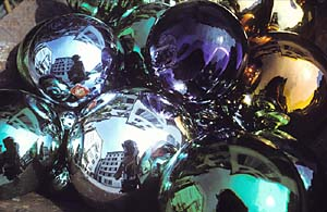 Karl Winkler | Self Portrait With Glass Balls