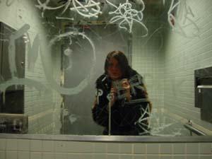 Diane Grust | men's room graffiti | virgin megastore 14st nyc