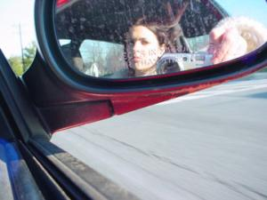 Cara Christopher | Classic Car Mirror Shot | Silver Spring, MD