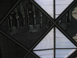 wansie | looking up while going up | Expo Station, Singapore