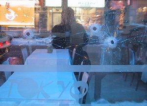 ed hawco (blork) | bullet holes, Tokyo Restaurant, Montreal | Montreal, Quebec (Canada)