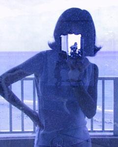 steph carley | glass door self portrait | new york