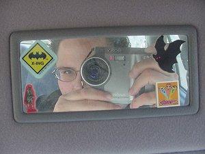 Alicia | Sissypoo Rearview | My sister's car, Las Vegas NV
