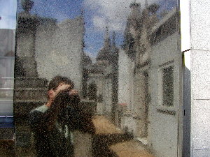 dan chusid | Marble Mirror #148 | Recoleta Cemetery, Buenos Aires, Argentina