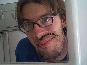 Flavio Garuti | Mirror Sticker from Italian toilet (!) | Carpi