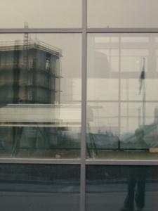 Jonas Voss | Scaffolds and flags | Islands Brygge, Copenhagen, Denmark.