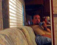 Drew Domkus | sittin in an r.v. | cornerstone, bushnell, illinois