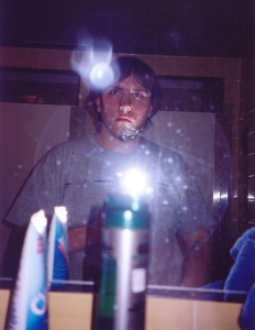 Clark Adamczyk | shaving? me? | Page Dorm communal bathroom, Cranbrook Upper School, Bloomfeild Hills, MI