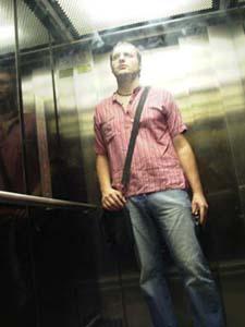 Oriol Malet | selfportrait in a elevator | Barcelona