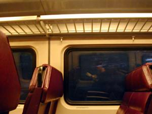 laura | On the commuter rail... | Somewhere between Framingham and Natick, MA