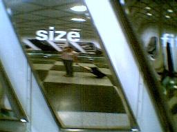 Deirdre | distorted size | Munich Airport, Germany
