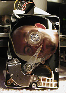 Derek Dahlsad | Inside a running hard drive | Fargo, ND