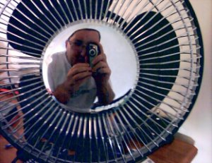 Chris Foulds | Me and my fan | Bedroom , Woking , Uk