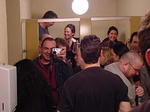 Jonathon Delacour | Group portrait in bathroom | Santa Cruz