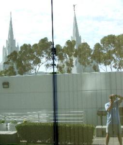 dan chusid | Mormon Temple Mirrored | La Jolla, California  USA