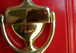Sarah | door knocker thingie | mom's house in cleveland, oh