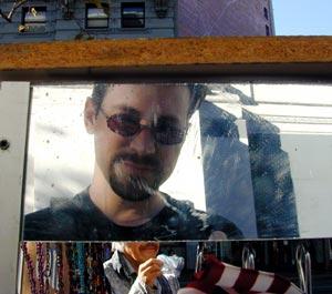 Derek Powazek | Me and the Art Spoon Vendor | Market Street, San Francisco
