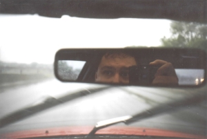 Stacey Graham | on the road | driving on hwy 35 in a rainstorm, Minneapolis  MN USA.